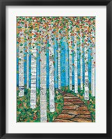 Framed Falling Birch Leaves