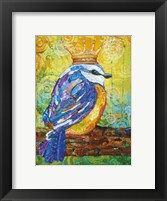 Framed Baby Bird with Crown