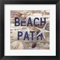Beach Path Framed Print