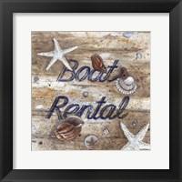 Boat Rental Framed Print