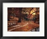 I Will Give You Rest Framed Print