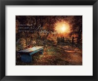 Show Me The Path Framed Print