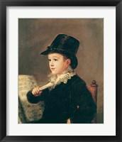 Framed Portrait of Mariano Goya