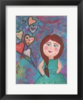 Loved Just As She Is Framed Print