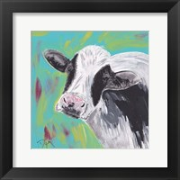 Framed Farm Life Cow