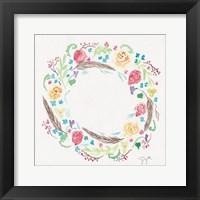 Wildflower Wreath 1 Framed Print