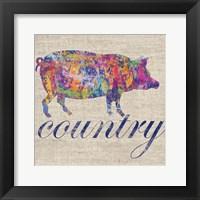 Pig Farm Framed Print