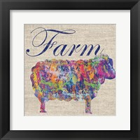 Sheep Farm Framed Print