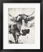 Vintage Cow Mate Framed Print