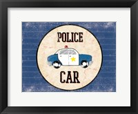 Police Car Blues Framed Print