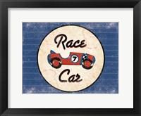 Race Car Blues Framed Print