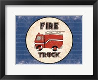 Framed Fire Truck Blues