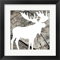 Wood Moose Reverse Framed Print