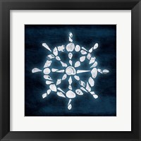 Shell Wheel Deeper Blue Framed Print