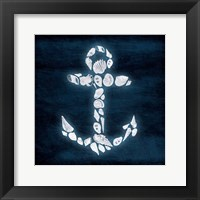 Shell Anchor Deeper Blue Framed Print