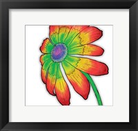 Bright Fun Time Flower Framed Print