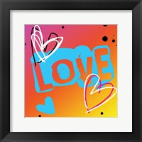 Love The Heart Framed Print