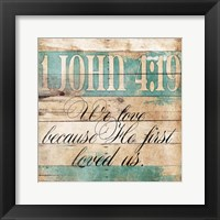 Loved Us Framed Print