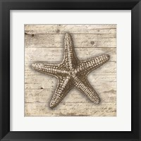 Wooden Star Framed Print
