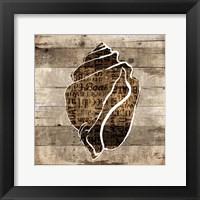 Wooden Shell Words Framed Print