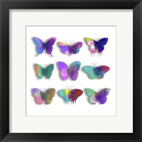 Watercolor Butterfly Pop Framed Print