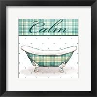 Relaxed Plaid Bath Mate Framed Print