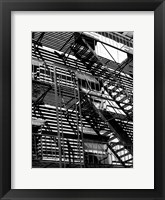 Escaping The Fire A Framed Print