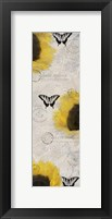 Carte Postale Sunflowers Framed Print