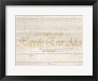 Happily Ever After Framed Print