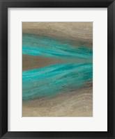 Turquoise Stream 2 Framed Print