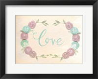 Flowered Love Framed Print