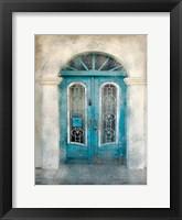 Framed Teal Doorway