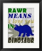 Framed Rawr Means