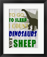 To Go To Sleep Framed Print