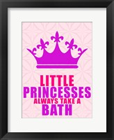 Little Princesses Bath Framed Print