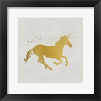 Framed Unicorn Gold 1