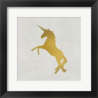Framed Unicorn Gold 2