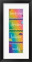 Kid Imagine Rainbow Framed Print