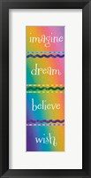 Kid Dreams Rainbow Framed Print