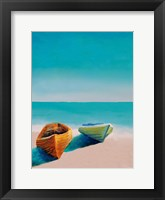 Framed Beach Boats