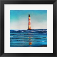 Framed Red Stripe Light House