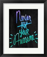 Awesome Blues Framed Print