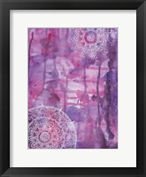 Purple Positive Vibes Framed Print