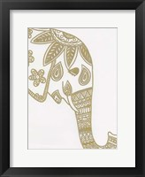 Elephant Gold 3 Framed Print