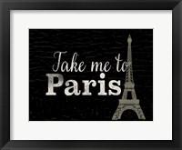 Framed Take me to Paris