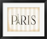 Framed Paris Icon