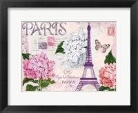 Framed Paris in Lavendar