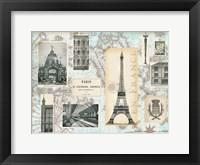 Framed Paris Collage Global