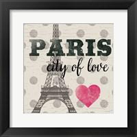 Framed Paris In Love