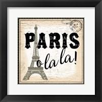 Framed Paris Ooh La la